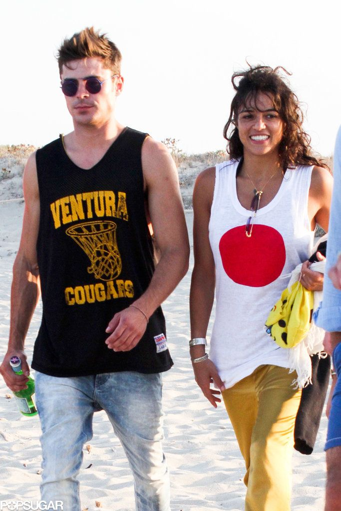 Zac Efron and Michelle Rodriguez took a stroll in Ibiza.