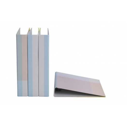 Really cool binders for the home office … love the soft colours. (Cult Design)