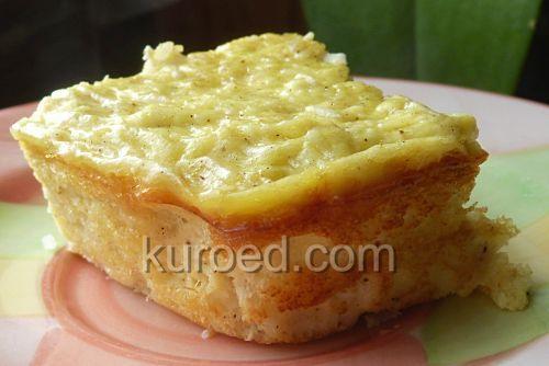 Творожная ванильная запеканка с рисом