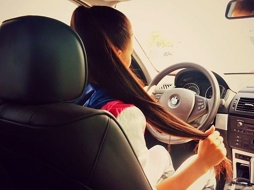 girl driving car drive road trip roadtrip long brown hair drive chick pinterest to be. Black Bedroom Furniture Sets. Home Design Ideas