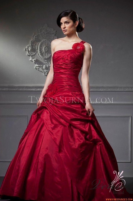 Robes De Mariee Verise Diora Bridal Butterfly Red Wedding GownsCheap
