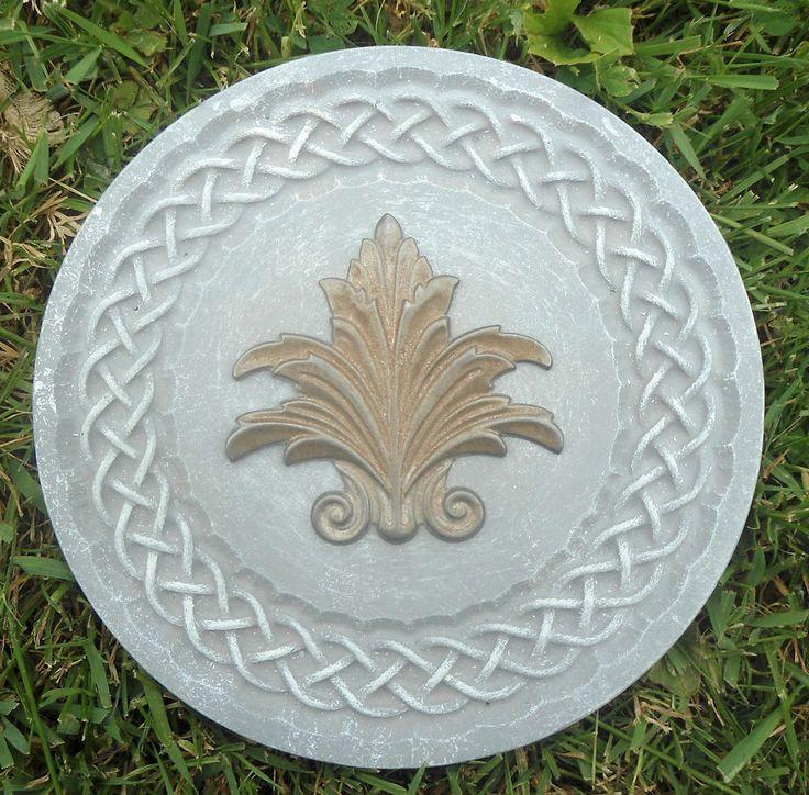 Celtic knotted fleur plaque plastic mold for plaster concrete   | eBay