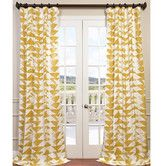 for bedroom?  Found it at Joss & Main - Demi Geometric Semi-Opaque Pinch Pleat Single Curtain Panel
