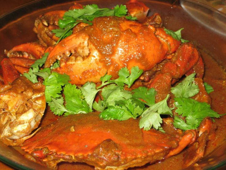 We are served special Crab Curry @@@@@