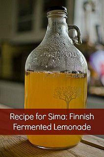 Recipe for Sima Finnish Fermented Lemonade by EverInTransit, via Flickr