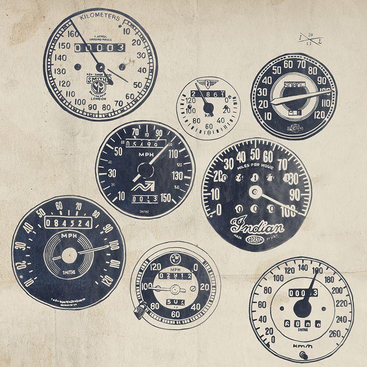 vintage car speedometers - Google Search