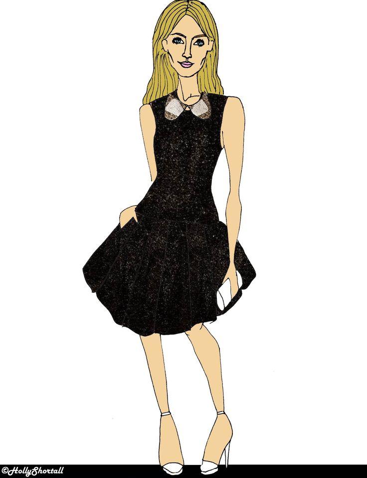 Saoirse Ronan wearing a JOANNE HYNES Scarlett Rope Collar. Illustration by Holly Shortall. #illustration #fashion