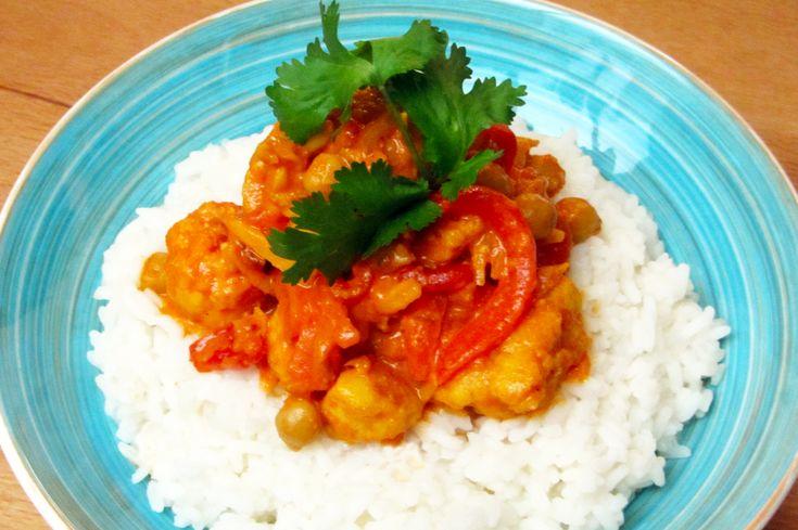 Indische curry met bloemkool en rijst - www.Recepten.be