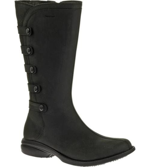 Simply perfect feel-good footwear, this leather boot will be a crowd and outfit pleaser. Classy full grain leather with tab details personify this low volume, petite and popular profile -- the most versatile, loved kicker in the closet. Plus, they're waterproof (seam-sealed with a water resistant barrier), with a women's specific cushioned sole made for walking.