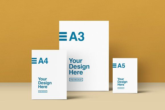 Download A3 A4 And A5 Mockups Light And Shadow Professional Photo Mockup