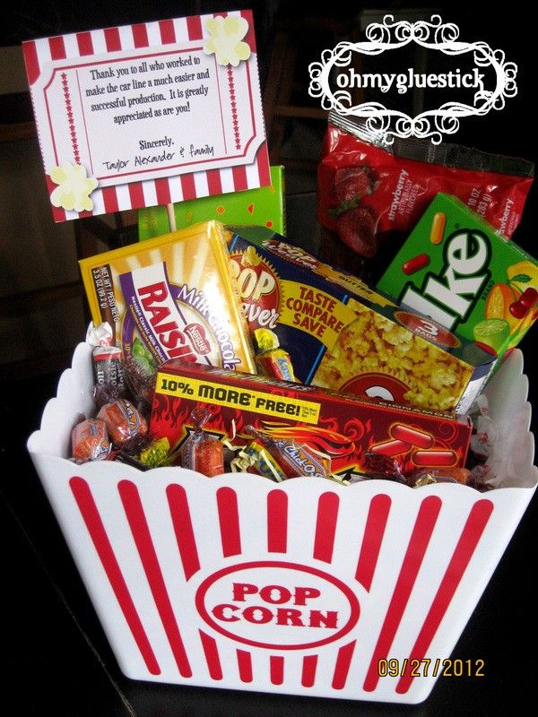 12 best health fitness basket ideas images on pinterest hand made movie night teacher gift negle Gallery