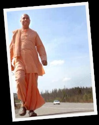 Bhaktimarga Swami is a monk who has walked across Canada three times !