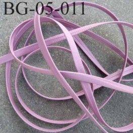 galon biais ruban à plat  façon ou simili cuir largeur 5 mm couleur parme prix au mètre