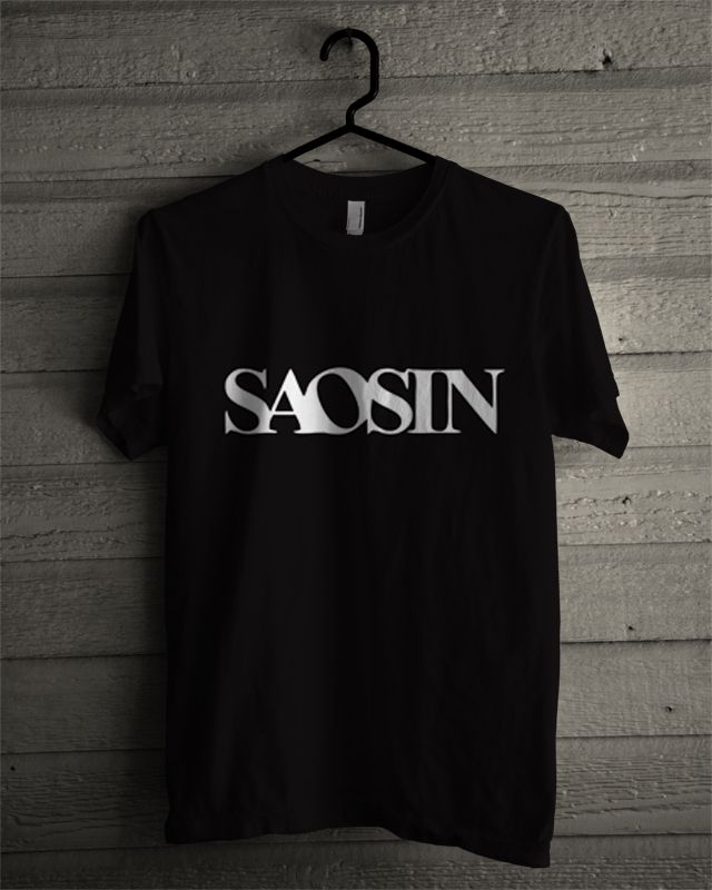 Saosin. T-shirt. Black T-shirt.