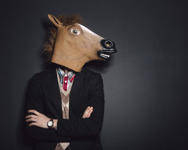 Download Horse Mask Man In Studio For Free In 2021 Horse Mask Masked Man Horses