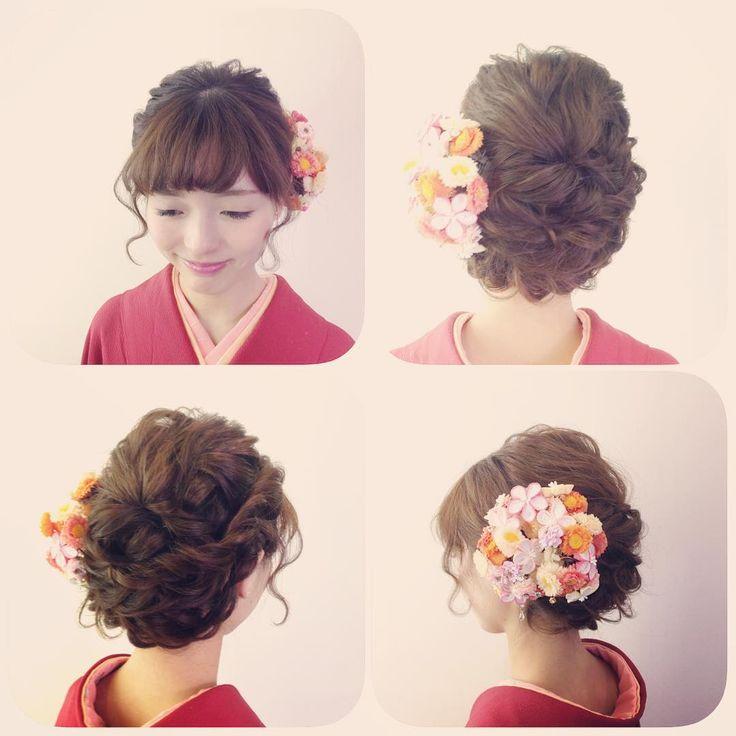 ムエベさん(@muebe2007)のInstagramアカウント: 「かわいらしく和装を着たい方にオススメのヘアスタイル♡ ♡Stylist Sakurai♡…」