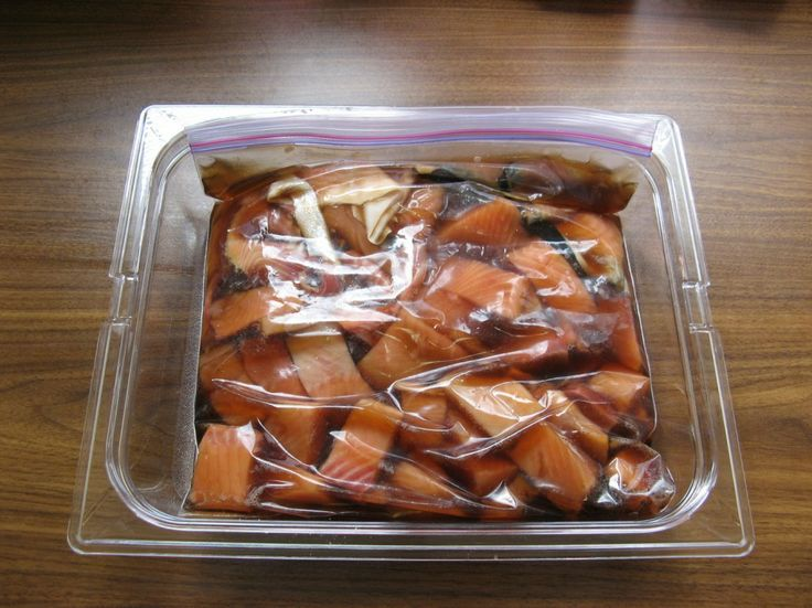 Marinading Candied Salmon