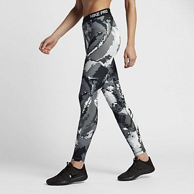 Nike Pro HyperWarm Women's Printed Training Tights #Nike