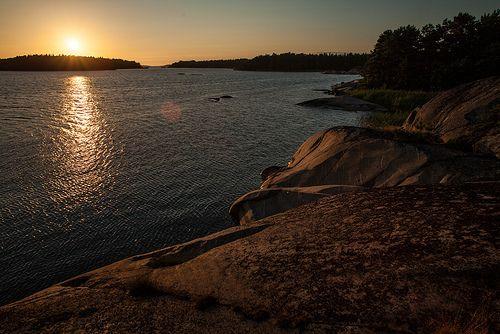 Summer Night in Helsinki Finland