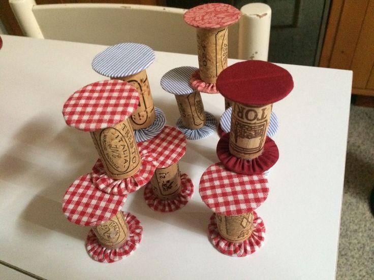 rocchetti con tappi di sughero