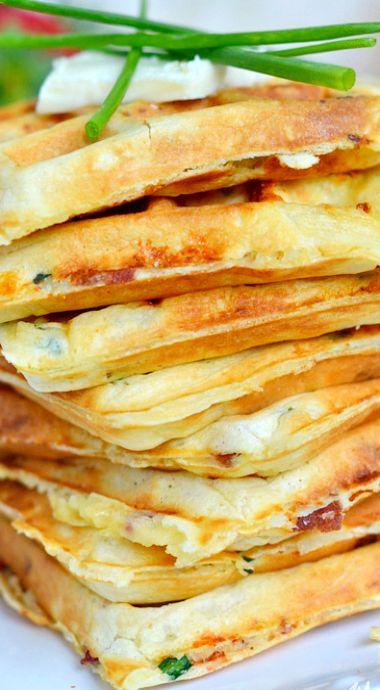 Bacon Potato Cheese Waffles