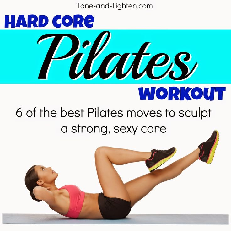 6 of the best Pilates exercises to sculpt a strong, sexy core! Do NOT miss this one! #workout #fitness from Tone-and-Tighten.com