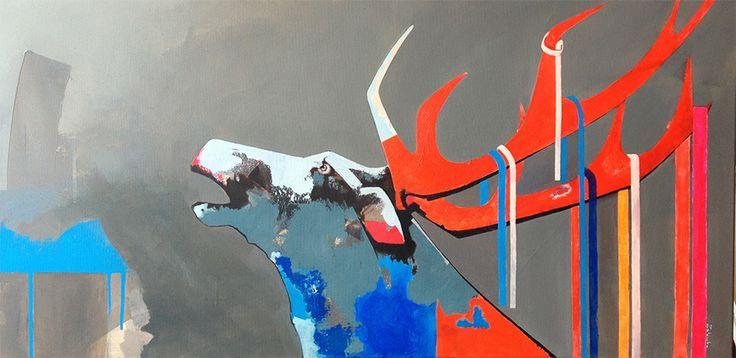 Return of the king, painting, acrylic on canvas || Powrót króla, obraz, akryl na płótnie