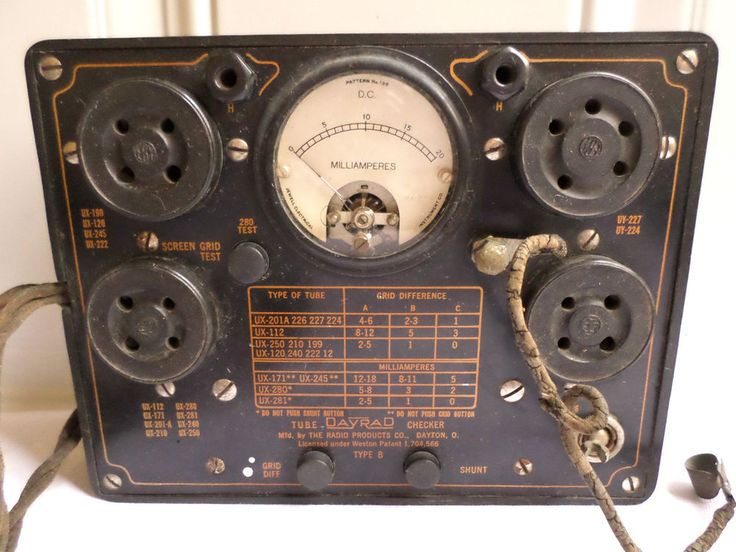 Types Of Electrical Test Equipment : Vintage day rad type b tube tester radio products dayton