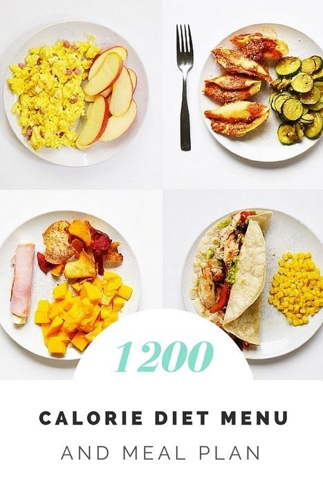 1200 Calorie Diet Menu and Meal Plan.