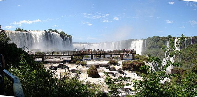 "The Iguazu Waterfalls are one of the 7 wonders of the world. It's a ""must visit"" place in Argentina but also Brazil."