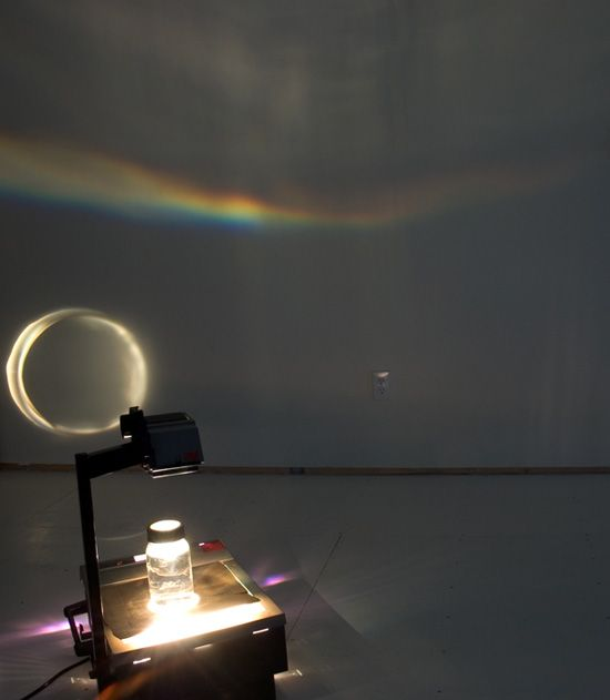 rainbow using overhead projector