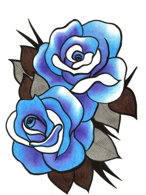 d2a0fea77 Blue roses tattoo design by KXTT | Tattoo designs/drawings | Blue ...