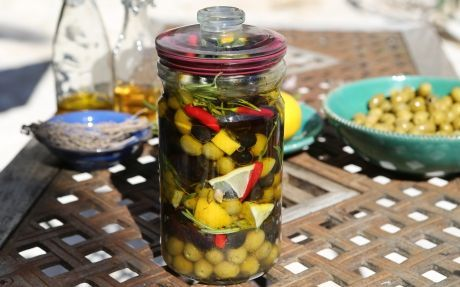 Olives Bottled with Lemon and Herbs Recipe by Jenny Morris