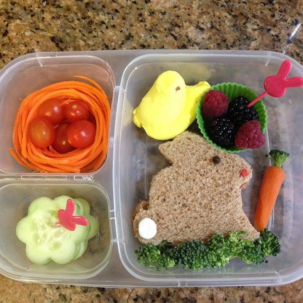 1st day of spring lunch in an #EasyLunchboxes Purchase EasyLunchbox containers HERE: http://www.easylunchboxes.com/