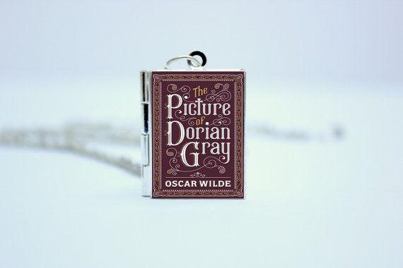 The Picture of Dorian Gray door Oscar WildeBook Cover medaillon ketting / armband / Keyring gepersonaliseerd Bookworm bibliotheek kaart goud / zilver
