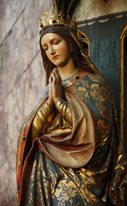 This statue of Our Lady Immaculate in the Jesuit church of the Immaculate Conception, London~Image