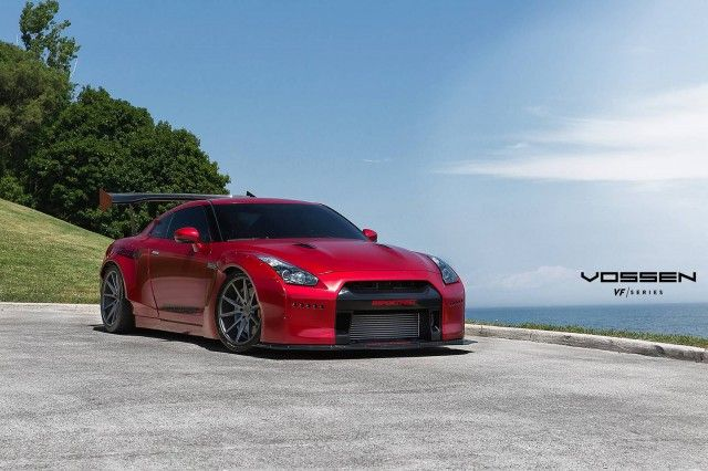 Red Rocket Bunny Nissan GT-R with VFS-1 Vossen Wheels