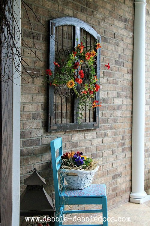 25 best ideas about patio wall decor on pinterest for Exterior wall mural ideas