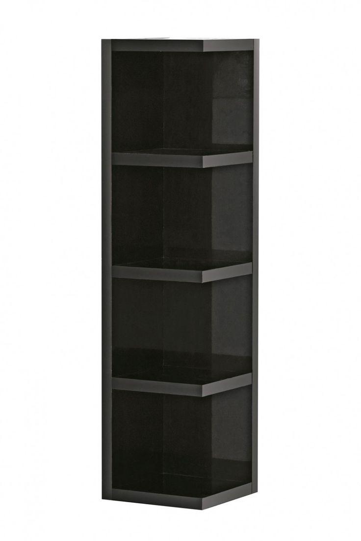 best  corner shelving unit ideas on pinterest  small corner  - home interior corner shelving unit no more unused corner black wooden cornershelving