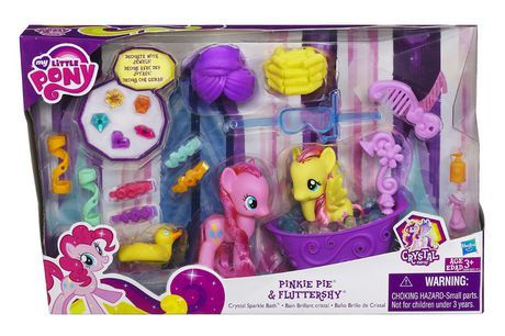 MY LITTLE PONY PINKIE PIE & FLUTTERSHY CRYSTAL SPARKLE BATH Set available from Walmart Canada. Buy Toys online at everyday low prices at Walmart.ca