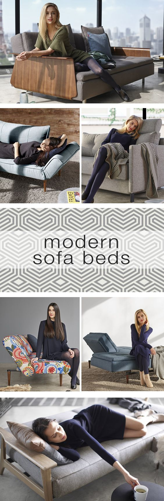Shop cool, high-end modern sleeper sofas to make your home comfortable and stylish - day or night!