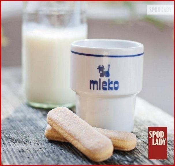 """+*Spod+Lady*+Kubek+barowy+""""Mleko""""+w+Spodlady+na+DaWanda.com"""