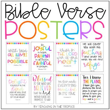 These bright and colorful Bible verse posters are perfect for your home, office, church, or Christian classroom. Print and hang them as they are or display them in a frame if you wish! The following verses are included (in the New International Version unless otherwise stated):
