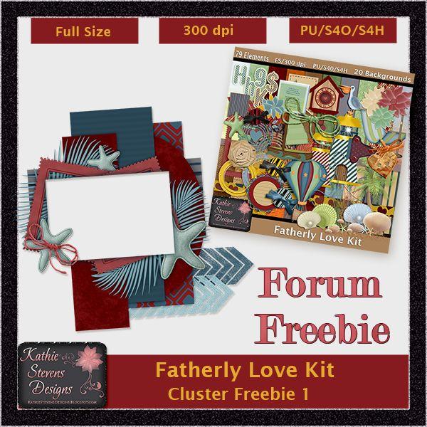 Fatherly Love Cluster Freebie - KittenScraps & Friends Forum by Kathie Stevens Designs