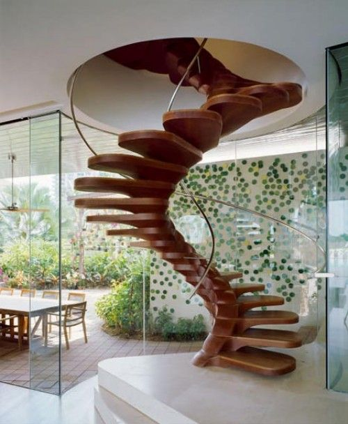 Beautiful wood and simple steel are the only materials in this stunning spiral staircase: Decor, Interior Design, Ideas, Spirals, Dream House, Spiral Stairs, Architecture, Spiral Staircases