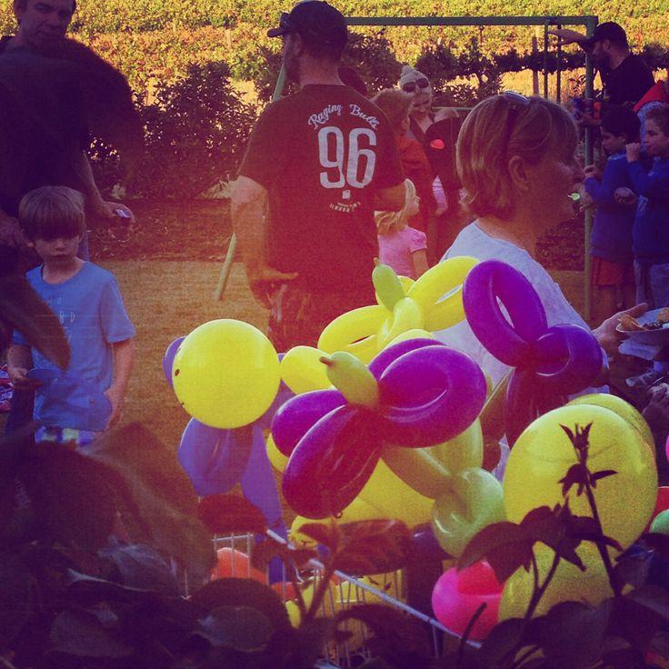 Balloon fun for kids.