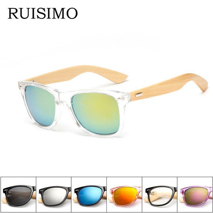 16 color Bamboo Sunglasses Men Wooden Sunglasses Women Brand Designer Mirror Original Wood Sun Glasses Oculos de sol masculino