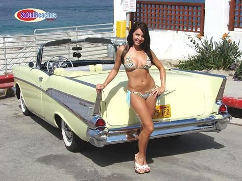 nude girls and classic cars