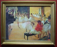 """Dollhouse Miniature Degas """"Ballet School"""" Painting/Picture"""