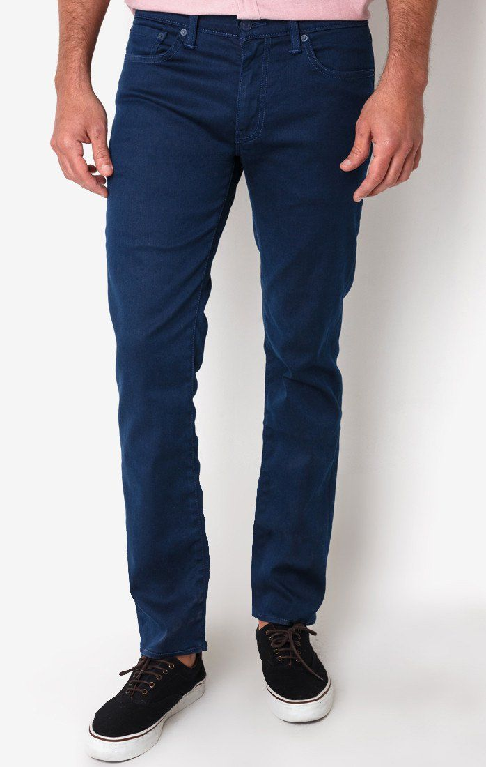 511 Slim Fit Deep Petrol Jeans by Levi's. Blue slim fit jeans, with blue color. Slim throughout the thigh and leg opening for a long and lean look. If you looking for skinny but not too skinny jeans this 511 slim fit is what you looking for. http://zocko.it/LEVY8